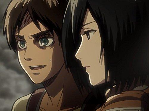 "Eren e Mikasa. Fotogramma da: ""L'attacco dei giganti"""