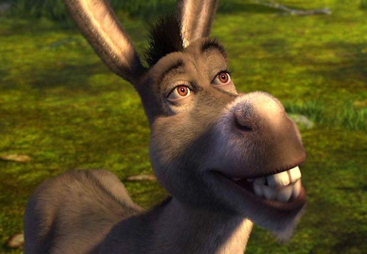 "Ciuchino. Fotogramma da: ""Shrek"""