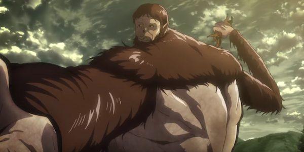 """Il Gigante Bestia. Fotogramma de: """"L'attacco dei giganti - La terza stagione"""""""