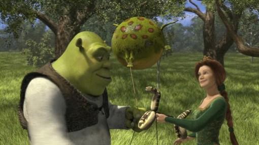 """Shrek e Fiona. Fotogramma da: """"Shrel"""""""