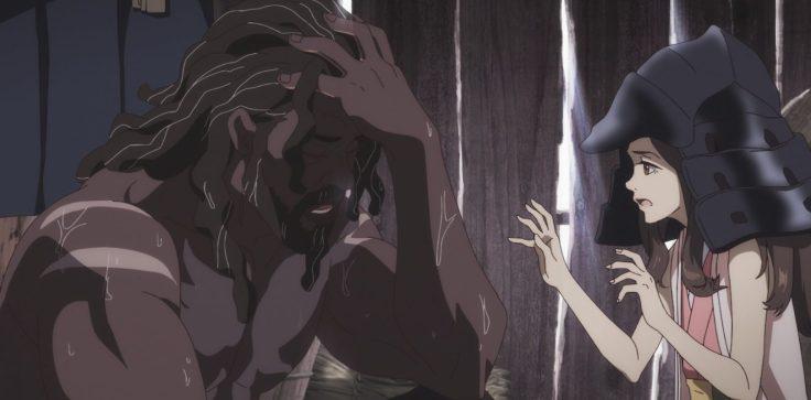 """Yasuke e Saki. Fotogramma da: """"Yasuke"""""""